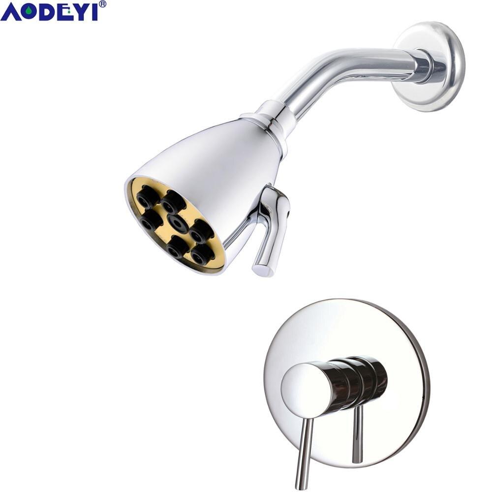 Braccio a collo di cigno in ottone da parete per soffione doccia Trustmi in cromo lucido