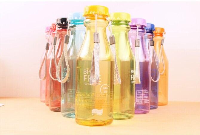 1PC 550ml unbreakable water bottle sealed transparent plastic portable sport bottle handy water bottle KB 1359