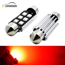 2x 36/39/41MM Festoon C5W LED Bulb AC12V-24V Canbus Error Free LED Bulbs 6LED 3030 for Car Interior Dome Reading Map Trunk Light