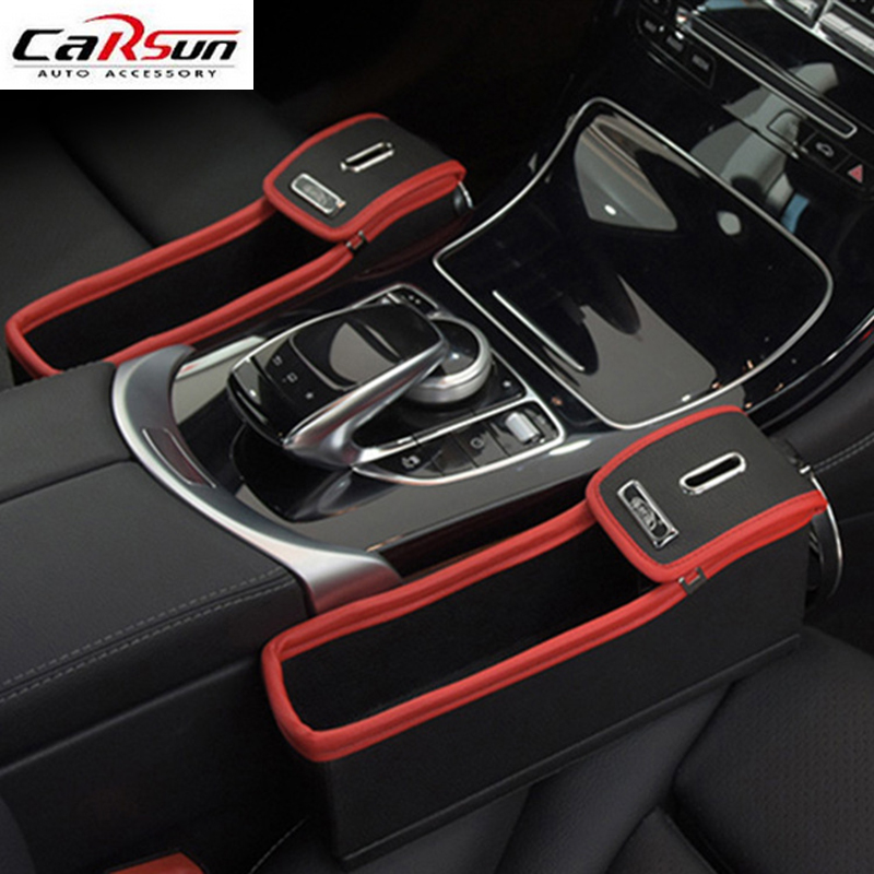 car seat gap filler pocket organizer premium pu leather car seat storage box multi function. Black Bedroom Furniture Sets. Home Design Ideas