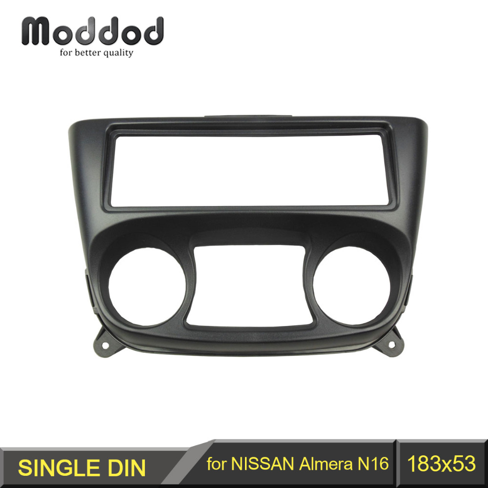 1 Din Fascia for NISSAN Almera N16 2000-2006 Radio DVD Stereo Panel Dash Install Trim Kit Face Surround Frame набор автомобильных экранов trokot для nissan almera n16 2000 2006 на заднюю полусферу 3 предмета tr0551 09