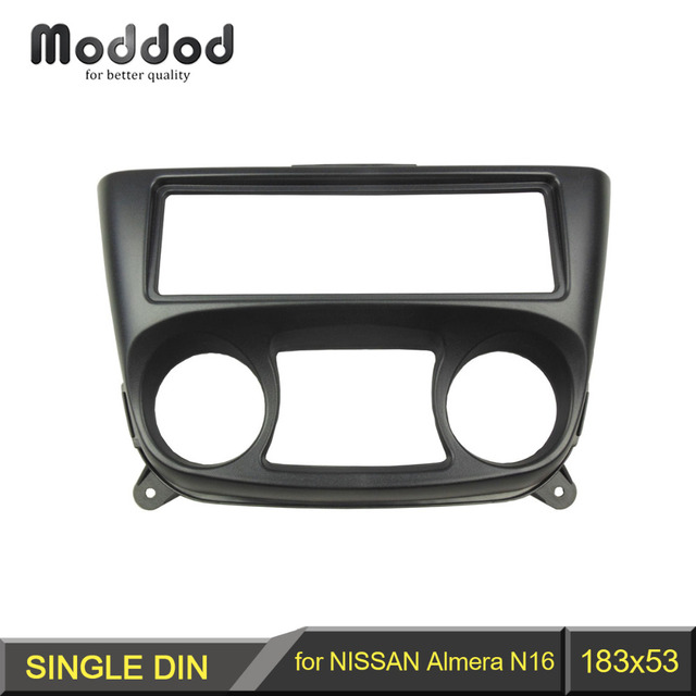 1 Din Fascia for Nissan Almera N16 2000-2006 Radio DVD Stereo Panel Dash Install Trim Kit Face Surround Frame