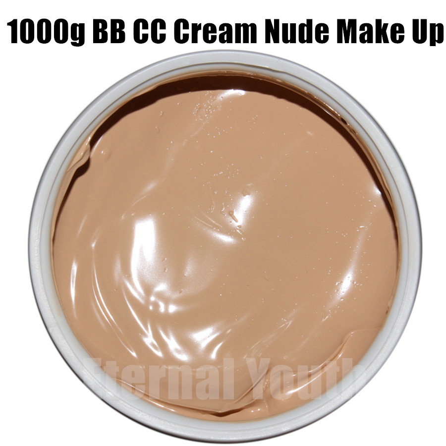 Nourishments CC BB Cream 1000g Nude Makeup Concealer Isolation Whitening Cosmetic Beauty Salon Care Equipment Bulk For Reseller free shipping authentic quality whitening beauty salon dedicated pulling compact cosmetic cream