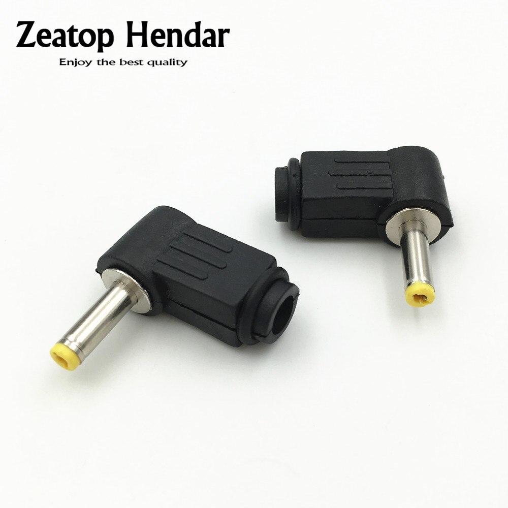 2x 1,7 mm X 4.0 mm spina maschio angolo retto L Jack di alimentazione CC connettore punta