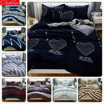 Lover Couple Duvet Cover 4pcs Bedding Set Adult Soft Bed Linen Quilt Comforter Blanket Pillow Case Queen King Big Size 200x230cm couples blanket