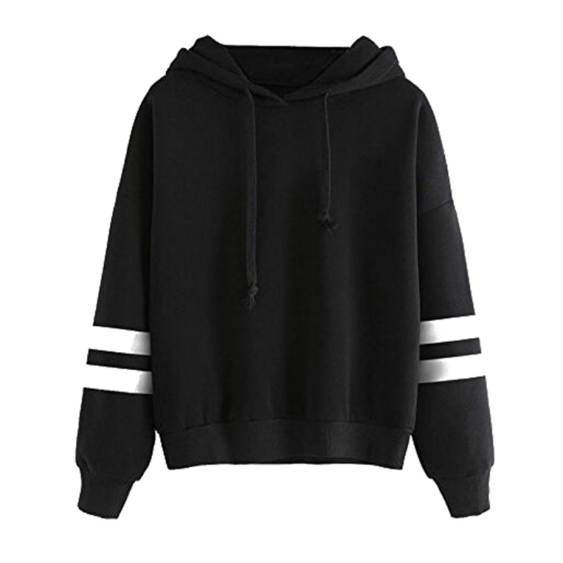 Autumn Women Hoodies Pullover Fleece Loose Female Patchwork Casual Round Neck Sweatshirt Color Stitching Women Hoodies W1 L9