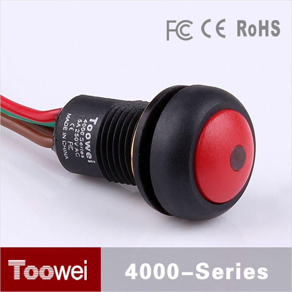 10pcs/lot waterproof mini on off push button switch 12mm black ...