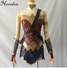 Wonder femme Cosplay Costume haut jupe brassard bandoulière bandeau tiare/Bracelet manchette Leggings Mulher Maravilha