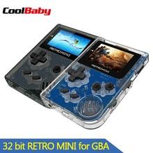 Coolbaby 레트로 게임 콘솔 32 비트 휴대용 미니 핸드 헬드 게임 플레이어 gba 클래식 게임 내장 169 어린이를위한 선물 장난감