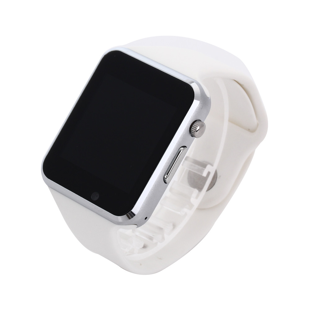 A1 WristWatch Bluetooth Smart Watch Sport Pedometer with SIM Camera Smartwatch For Android white one size 24