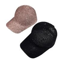 Shade Hat Brand Sequins Hats Women Sequins Flashes Hip Hop Cap Girl S Breathable Mesh Hat