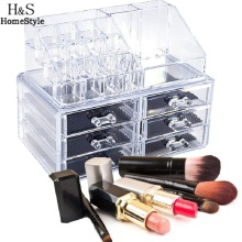Makeup Organizer Display Lipstick Stand Case Cosmetic Holder Drawer Makeup Jewelry Case Storage Rack Dreamhouse