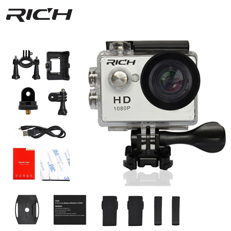 RICH Original A9 Sports Action Camera Underwater Mini Camcorder 1080P HD 8MP Waterproof SJ Cam Sport DV outdoor camera