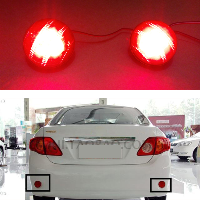 For Toyota Corolla 2007 2008 2009 2010 Reflector LED Back Tail Rear Bumper Light Brake Lamp