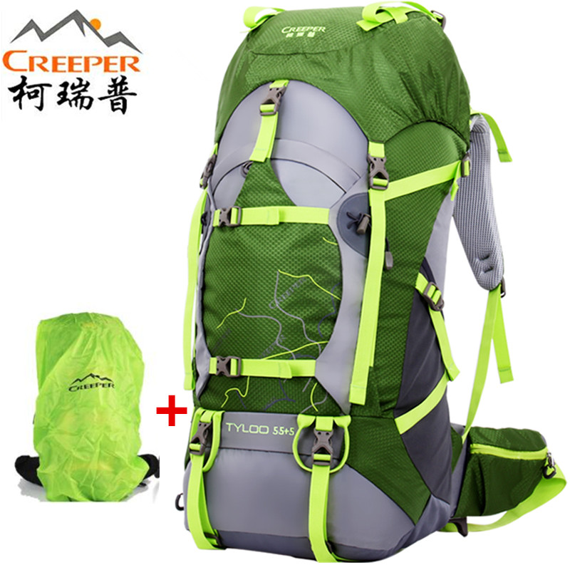 Creeper Outdoor camping backpack 2018 mountaineering bag waterproof riding professional package Climbing Hiking backpack 70 L koraman professional 40l knapsack outdoor waterproof mountaineering bag nylon backpack wear resistant tourist strip package 1406