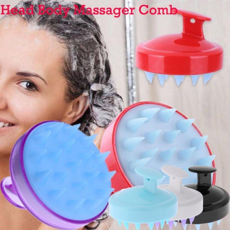 Soft Bath Spa Massage Brush Silicone Head Body Washing -6871