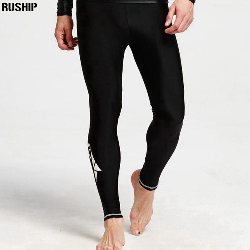 SBART Men Lycra Diving long pants Super elasticity Rashguards Swimsuit Sunscreen Swimming Rash Guard Pants beach pants