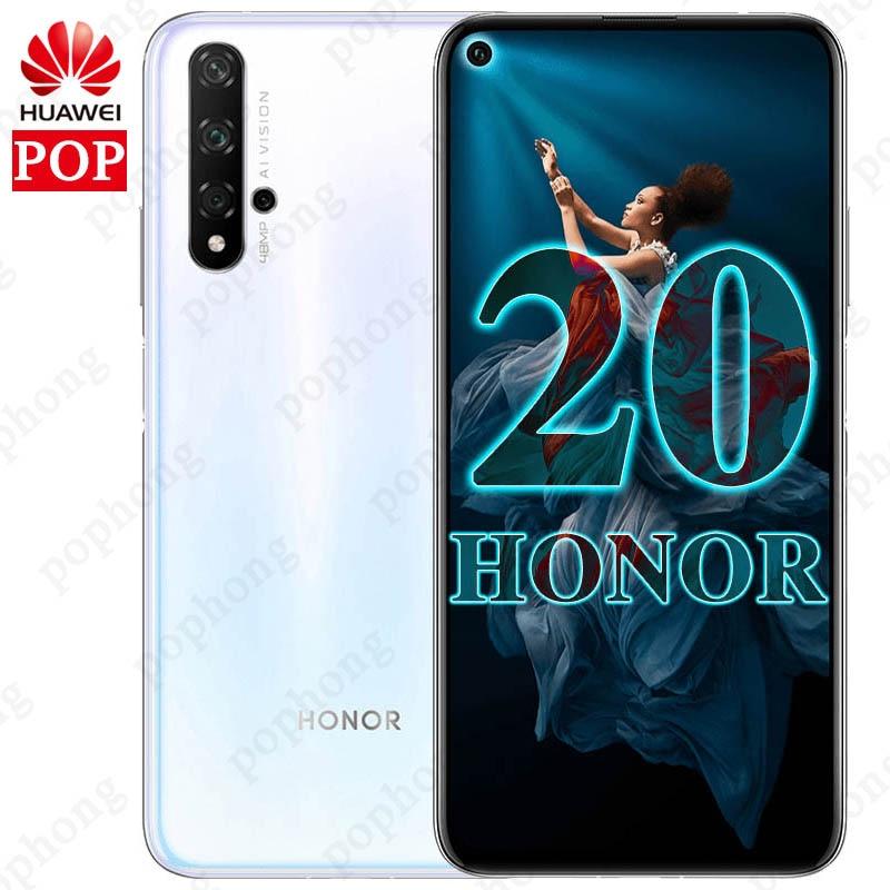 Original Huawei Honor 20 8GB 128 256GB Mobile Phone 6 26 inch Kirin 980 Octa Core