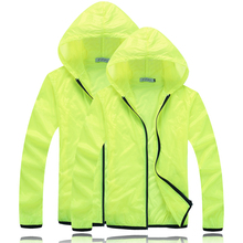цена на Men Women Ultralight Anti-UV Skin Coat Jacket Outdoor Sports Quick Dry Sun Protective Hiking Windbreaker Hooded Cycling Jersey