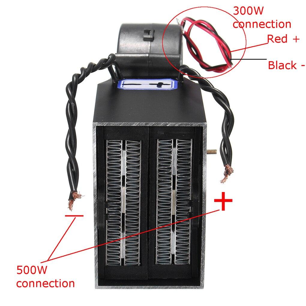 12 V PTC 300 W/500 W Réglable De Voiture générateur d'air chaud Automatique En Céramique Automatique Thermostat Chauffe Dégivreur accessoires de voiture