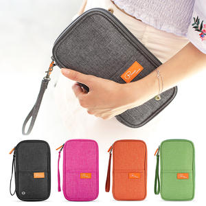 Wallet Blocking with Zipper Women Outdoor Portable Coin-Purse-Bag Travel RFID Family