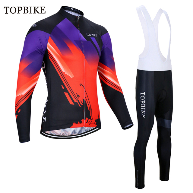 TOPBIKE 2018 Winter Thermal Fleece Cycling Jersey Set Bicycle Clothing  Maillot Invierno Ropa Ciclismo Bike Clothes 7be2120ce