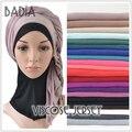 10 unids/lote algodón viscosa jersey bufanda bufandas islámicas musulmanes llanura hijab jersey mayoristas maxi mujeres estolas chal envolturas de cabeza