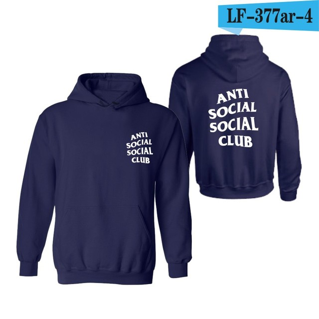 2016New Arrived Spring Autumn Boy London Anti Social Social Club Hoodie Men Brand Clothing High Quality GD Kanye West Hoodies