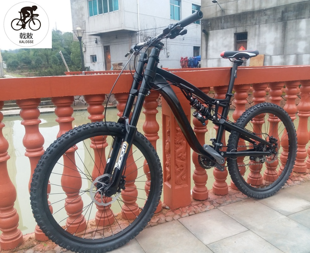 Travel Bicycle Mountain-Bike Full-Suspension 24-Speed 26--17inch Hydraulic-Brakes Dh/am-190mm title=