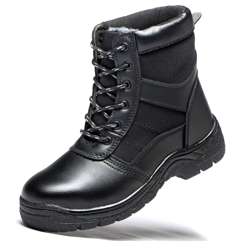 Reliable New Fashion Men Big Size Steel Toe Cap Work Safety Cotton Shoes Winter Warm Plush Snow Fur Ankle Security Boots Protect Footwear Men's Shoes Back To Search Resultsshoes