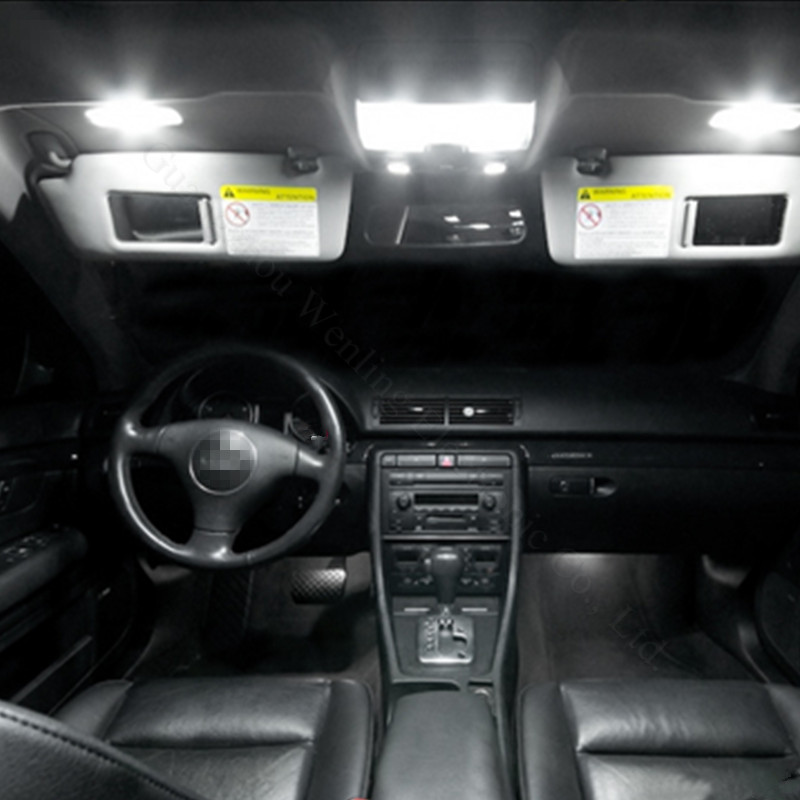 WLJH 13x Pure White Canbus No Error Free LED Car Light for BMW X3 E83 LED Interior light LED Kit 2004 2010 in Signal Lamp from Automobiles Motorcycles