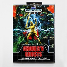 Ghouls'n Ghosts (Daimakaimura) 16 bit MD card with Retail box for Sega MegaDrive Video Game console system