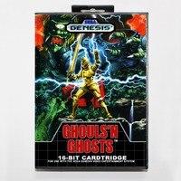 Ghouls'n Hayaletler (Daimakaimura) 16 bitlik MD kartı için Perakende kutusu ile Sega MegaDrive Video Oyun konsolu sistemi