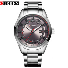 Relogio masculino curren relógio de luxo homens de aço inoxidável marca analógico relógios de quartzo ocasional relógio do esporte à prova d' água mens relógios