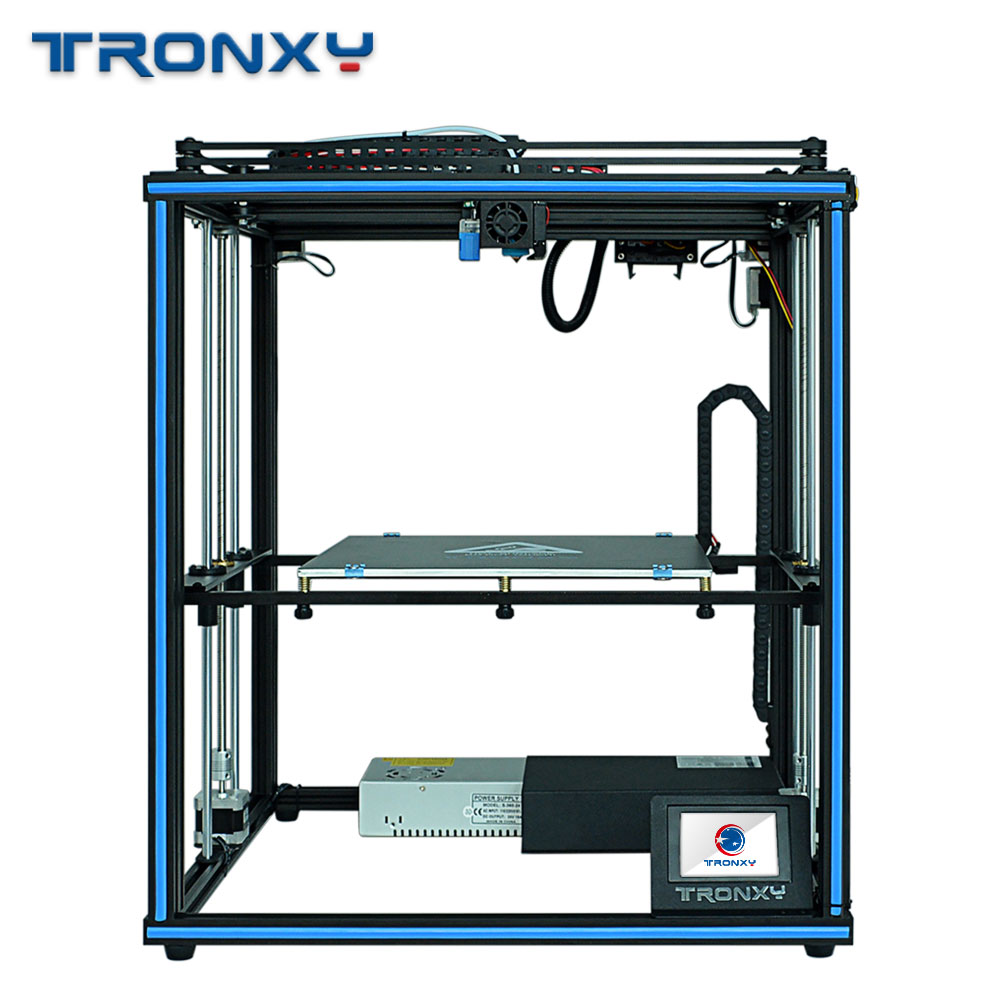 Tronxy X5SA 24V Дизайн DIY 3d Принтер Комплект полностью металлический с сенсорным экраном и автоматическим уровнем большой размер датчик накаливан...