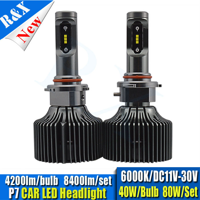 2016 Perfect 1set 60W 8400LM 9006 HB4 Canbus For P7 CSP all in one Car LED Headlight Kit DRL Driving Lamp 6000K all in one canbus 80w 8000lm cree chip led h4 hi