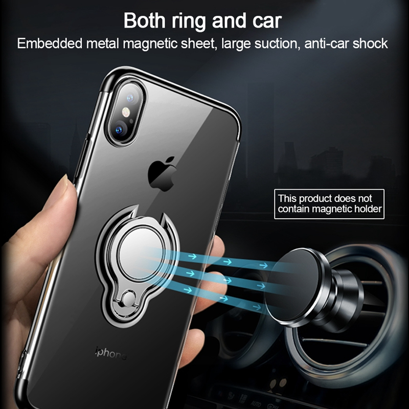 Olaf-For-iPhone-X-Case-Luxury-Plating-Transparent-TPU-Silicone-Car-Magnetic-Ring-Stand-Phone-Cases (1)