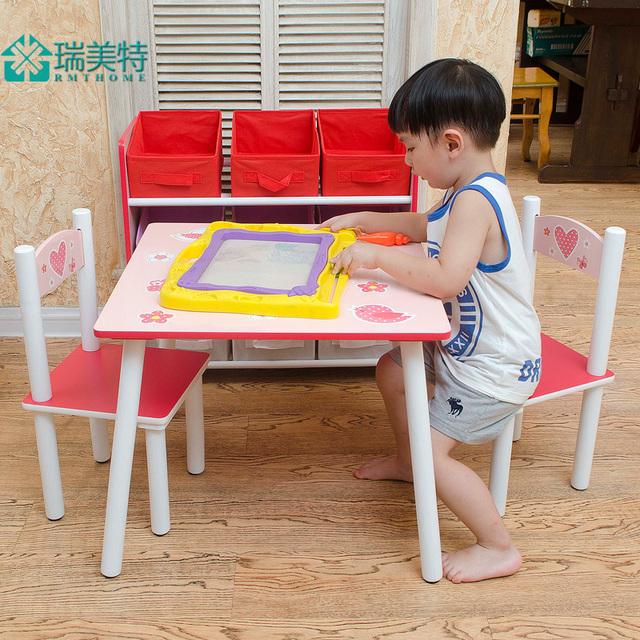 Rui EUA especial para crianças mobília do berçário mesas e cadeiras combinação terno do bebê mesa mesa de estudo cadeiras de mesa da criança