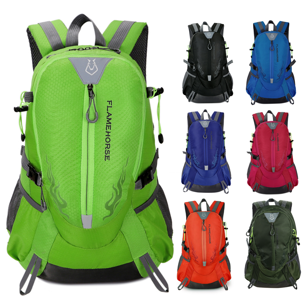 Waterproof Nylon Men Women Backpack Sports Bag Unisex Travel Bag Mountain Climbing Camping Hiking Rucksack Outdoor Bags 7 Colors rucksack 40l outdoor waterproof hiker backpack mountain climbing knapsack sports bag wayfarer hiking camping travel haversack