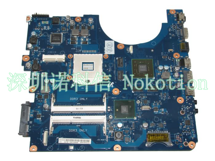 NOKOTION BA92-06105A Laptop Motherboard for Samsung R580 R590 Intel HM55 graphic card DDR3 Mainboard 100% full tested nv53 laptop motherboard 50% off sales promotion full tested mbbfd01001 48 4fm01 011