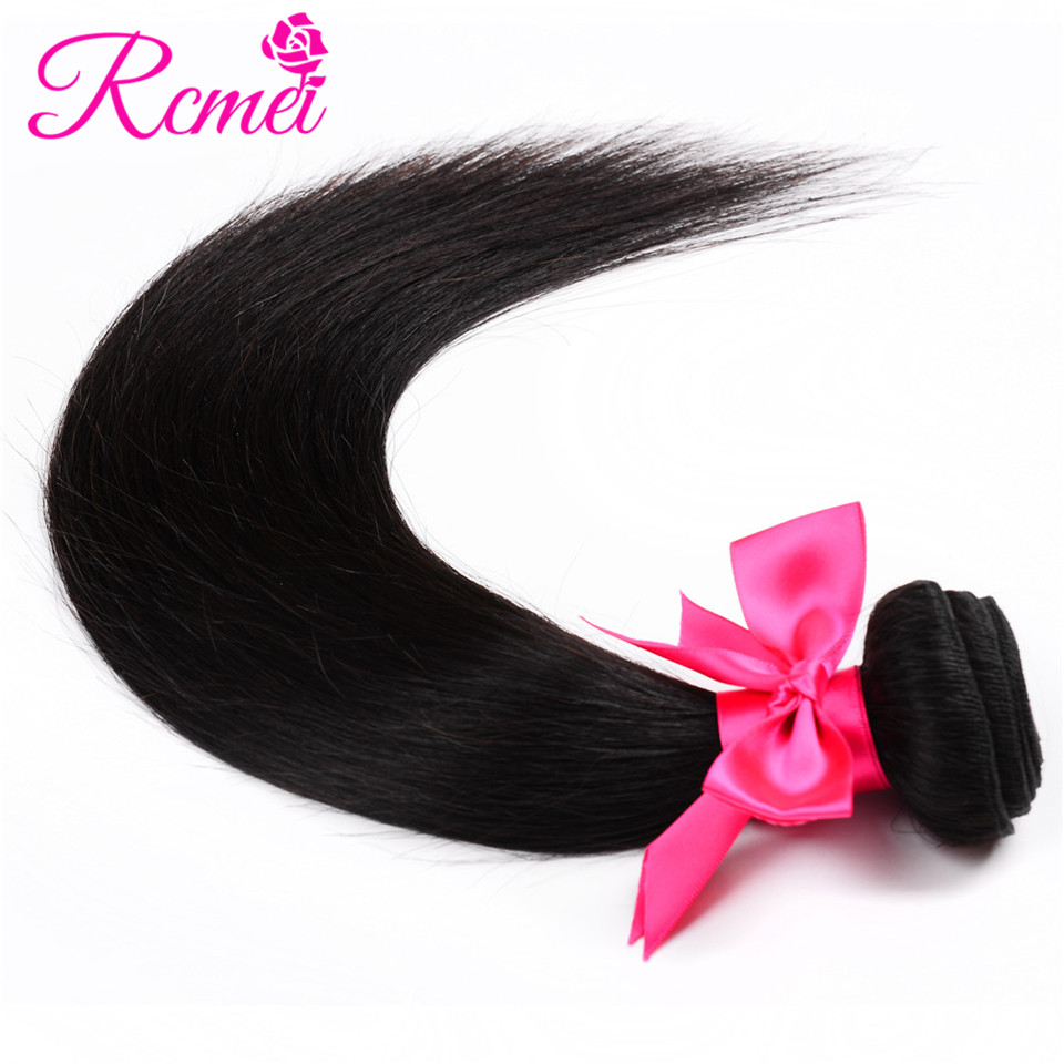 Malaysian Straight Hair 4 Bundles Deal Natural Black Color Straight Hair Extension 8-28 Inch Non Remy Hair Free Shipping Rcmei H