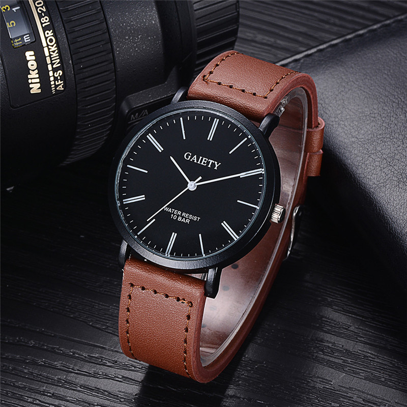 Men Watch Drop Shipping Relogio Masculino Reloj Hombres Gift Business Fashion Leather Band Analog Quartz Round Wrist July3 paidu fashion men wrist watch casual round dial analog quartz watch roman number faux leatherl band trendy business clock