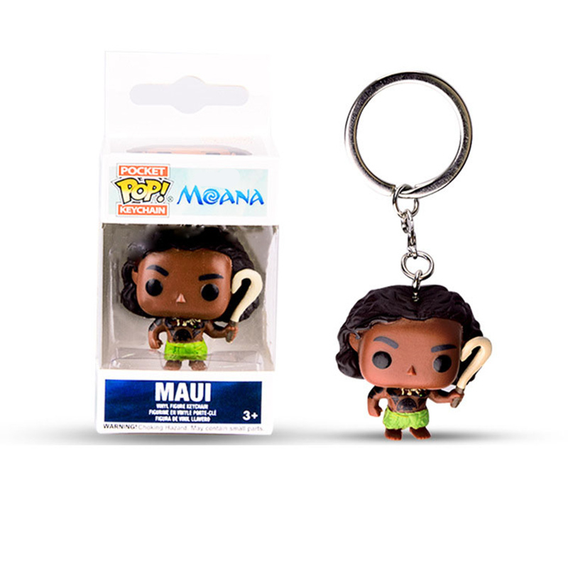 FUNKO POP Pocket Pop Keychain Official Moana MAUI Cartoon Movie pvc Action Figure Model Toy For Children Christmas Present Gift