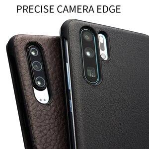 Image 4 - Ультратонкий флип чехол QIALINO из натуральной кожи для Huawei P30 Pro, 6,47 дюйма, чехол ручной работы для телефона с умным просмотром для Huawei P30
