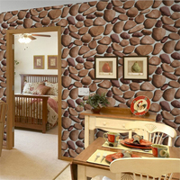 beibehang 3d stereo simulation cobbled wallpaper living room TV background wall foot bath restaurant realistic stone wallpaper