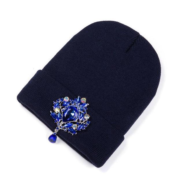 Ralferty Winter Women's Hats Luxury Crystal Accessory Headgear Beanie Hat Women Cap bonnet femme gorro Black Friday 2018 Deals