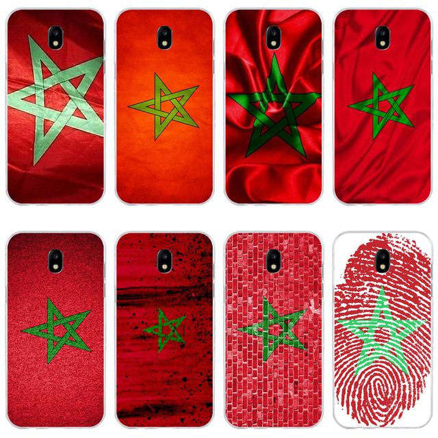 47H Morocco Flag Soft Silicone Tpu Cover phone Case for Samsung j3 j5 j7 2016 2017 a3 2016 a5 2017 a6 2018