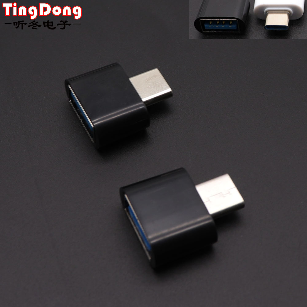 For Samsung For Huawei Phone Type-C OTG USB 3.1 To USB2.0 Type-A Adapter Connector High Speed Certified Cell Phone Accessories