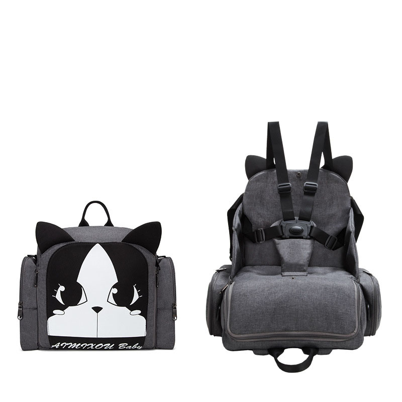 Children Safety Belt Booster Seat Baby Eating Chair Multifunction Diaper Backpack Portable Baby Dining Chair Cartoon