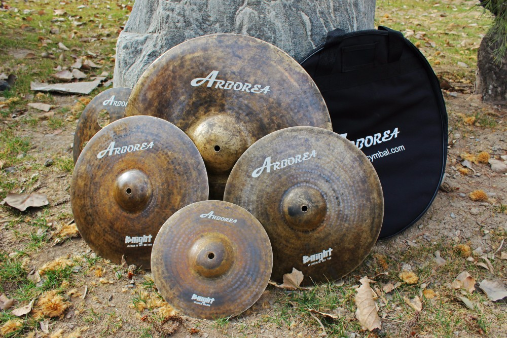 ARBOREA Knight special series cymbal set: 14hihat+18crash+19crash+18china+22 medium ride+20stacker